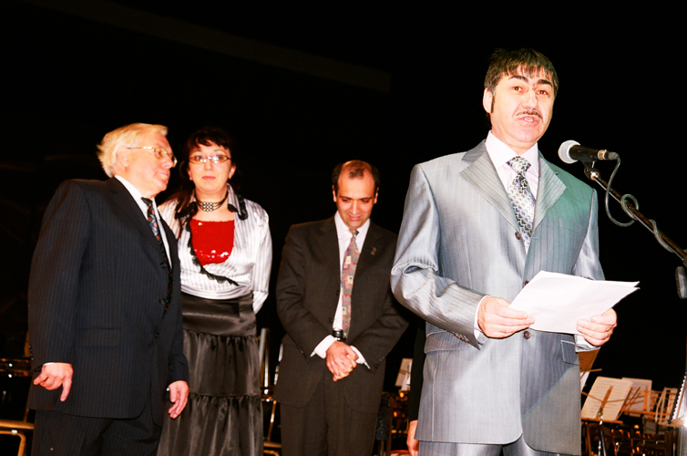 Йоахим Грунер, Эвелина Бирюкова, Георгий Исаакян, Валерий Грунер. Фото Сергея Копышко