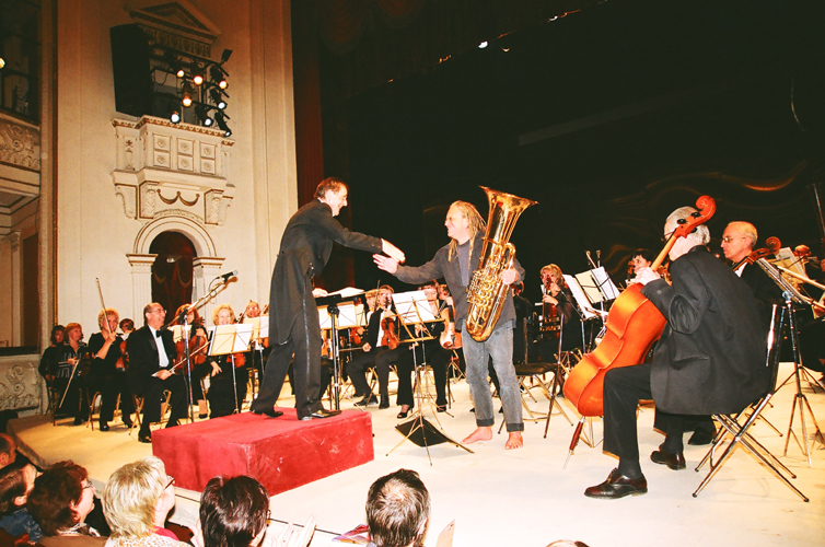 Концерт для тубы с оркестром. Фото Сергея Копышко
