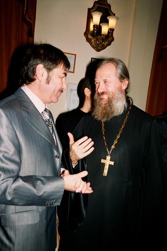 Валерий Грунер, о. Игорь (Ануфриев). Фото Сергея Копышко